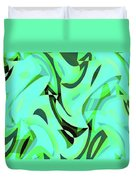 Abstract Waves Painting 0010107 Duvet Cover