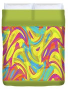 Abstract Waves Painting 0010109 Duvet Cover
