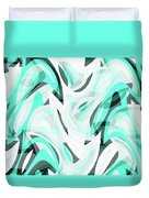 Abstract Waves Painting 0010111 Duvet Cover