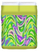 Abstract Waves Painting 0010113 Duvet Cover
