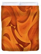 Abstract Waves Painting 001451 Duvet Cover