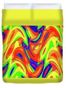 Abstract Waves Painting 007192 Duvet Cover