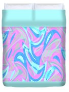 Abstract Waves Painting 007197 Duvet Cover