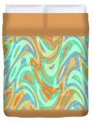 Abstract Waves Painting 007202 Duvet Cover
