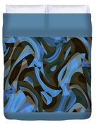 Abstract Waves Painting 007203 Duvet Cover