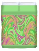 Abstract Waves Painting 007214 Duvet Cover