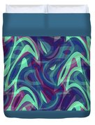 Abstract Waves Painting 007219 Duvet Cover