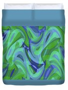 Abstract Waves Painting 007221 Duvet Cover