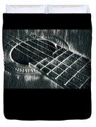 Acoustic Guitar Musician Player Metal Rock Music Black Duvet Cover