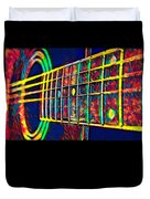 Acoustic Guitar Musician Player Metal Rock Music Color Duvet Cover