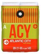 Acy Atlantic City Luggage Tag I Duvet Cover