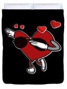 Adorable Cool Dabbing Heart Duvet Cover
