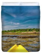 Adventurous Kayak In Maine Duvet Cover