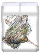 Aerial Hoop Dancing Whirlwind Of Hair Png Duvet Cover