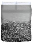 Aerial View Of Downtown San Francisco From The Air Duvet Cover