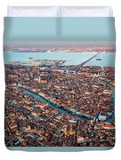 Aerial View Of Grand Canal, Venice, Italy Duvet Cover