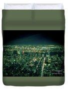 Aerial View Of Manhattan Skyline  Duvet Cover
