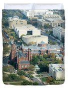Aerial View Of Museums On The South Side Of The National Mall In Duvet Cover