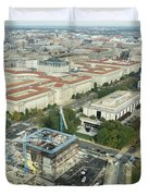 Aerial View Of The Smithsonian National Museum Of African Americ Duvet Cover