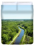 Aerial View Of Vegetation On Landscape Duvet Cover