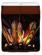 African Shields At Ak Lodge Duvet Cover