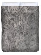 After Billy Childish Pencil Drawing 1 Duvet Cover