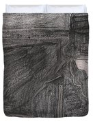 After Billy Childish Pencil Drawing 32 Duvet Cover
