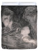 After Billy Childish Pencil Drawing 33 Duvet Cover