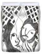 After Mikhail Larionov Pencil Drawing 14 Duvet Cover