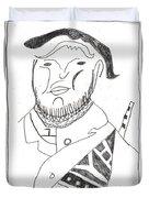 After Mikhail Larionov Pencil Drawing 2 Duvet Cover
