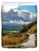 After The Rain On The Trail Duvet Cover