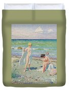 After The Swim  Oil On Canvas Duvet Cover