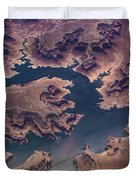 Air View Of Lake Powell Duvet Cover