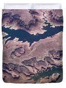 Air View Of The Colorado River Duvet Cover