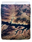Air View Of The Grand Canyon Duvet Cover