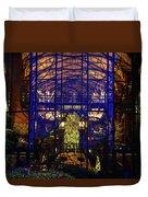 Ak Lodge Interior Christmas Tree Duvet Cover
