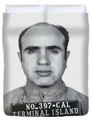 Al Capone Mugshot 1939 - T-shirt Duvet Cover