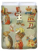Alice In Wonderland Characters Duvet Cover