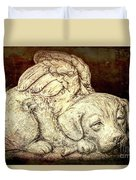 All Dogs Are Angels Duvet Cover
