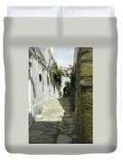 alley in Hammamet, Tunisia Duvet Cover