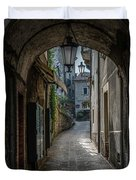 Alleys Of San Marino Duvet Cover