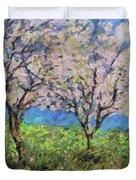 Almonds In Full Bloom Duvet Cover