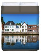 Along The Canal. Flanderenfietsroute.   Duvet Cover