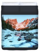 Alpenglow At Dream Lake Rocky Mountain National Park Duvet Cover