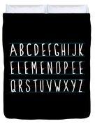 Alphabet Elemeno Duvet Cover