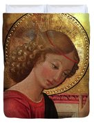 Altarpiece Angel Antique Christian Catholic Religious Art Duvet Cover
