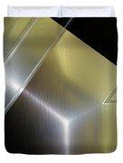 Aluminum Surface. Metallic Geometric Image.   Duvet Cover