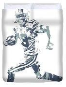 Amari Cooper Dallas Cowboys Pixel Art 3 Duvet Cover