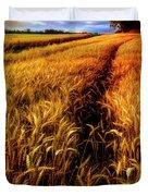 Amber Waves Of Grain Painting  Duvet Cover