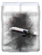 American Airlines Boeing 767-200 Painting Duvet Cover